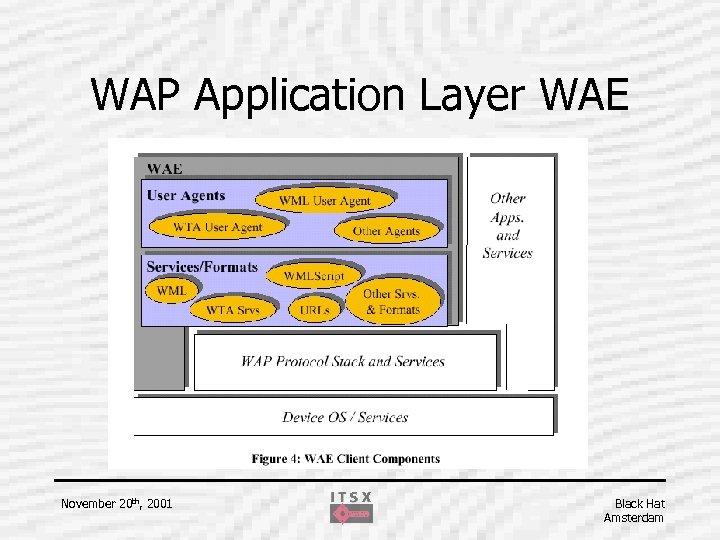 WAP Application Layer WAE November 20 th, 2001 Black Hat Amsterdam