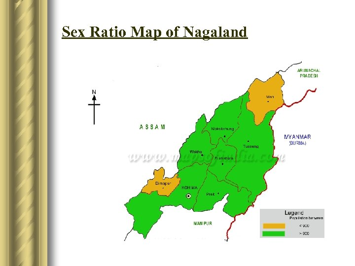 Sex Ratio Map of Nagaland