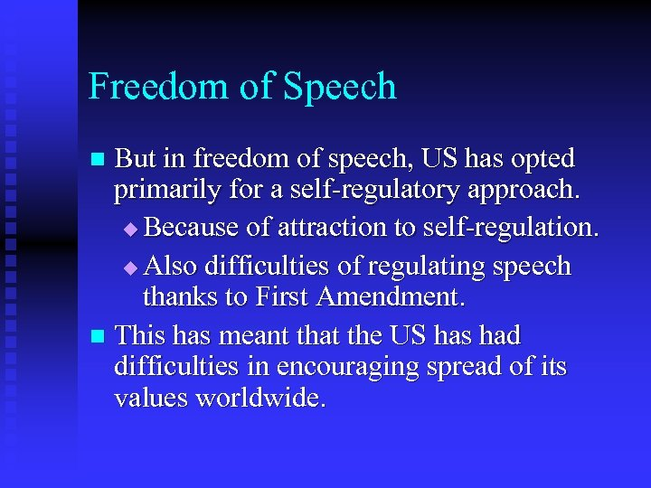 the debate about the censorship of the internet and freedom of speech in the us Freedom of speech is an unalienable right afforded to every citizen of the united states of america these rights make mention of the statutes expressed in the 1st amendment to the constitution of the united states - a statute that provides every american citizen to 'life, liberty, and the pursuit of happiness.