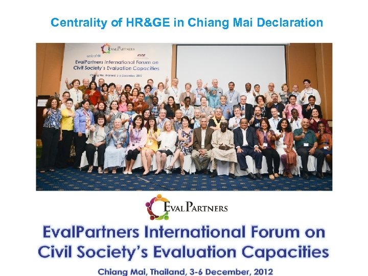 Centrality of HR&GE in Chiang Mai Declaration
