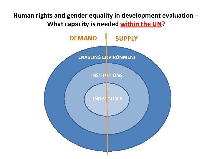 Human rights and gender equality in development evaluation – What capacity is needed within