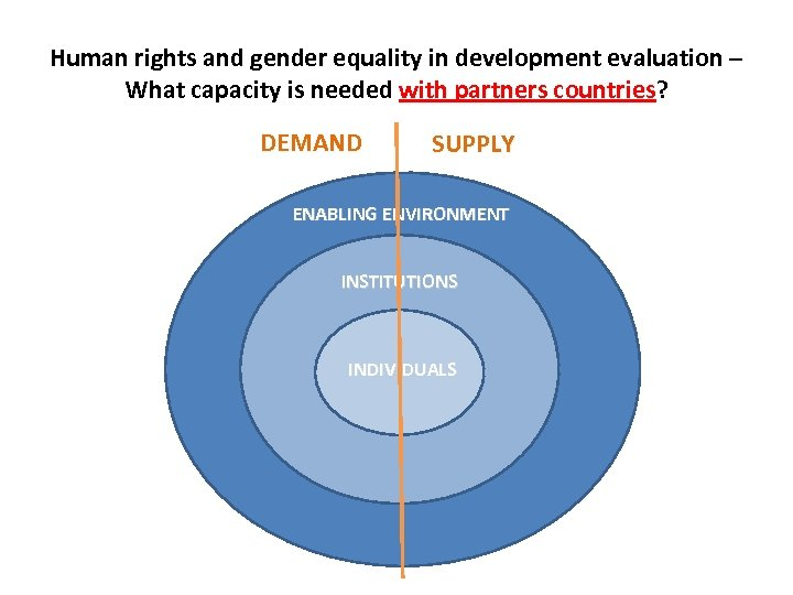 Human rights and gender equality in development evaluation – What capacity is needed with