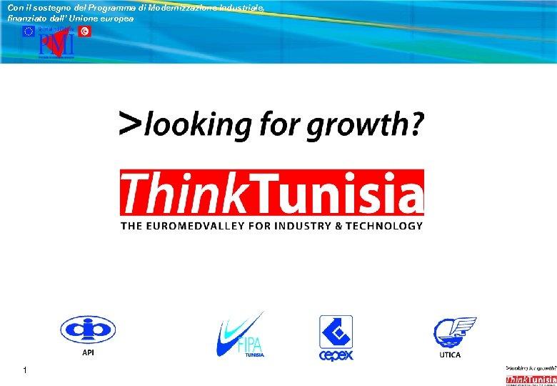 Con il sostegno del Programma di Modernizzazione Industriale, finanziato dall' Unione europea Agenzia di