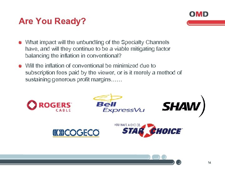 Are You Ready? What impact will the unbundling of the Specialty Channels have, and