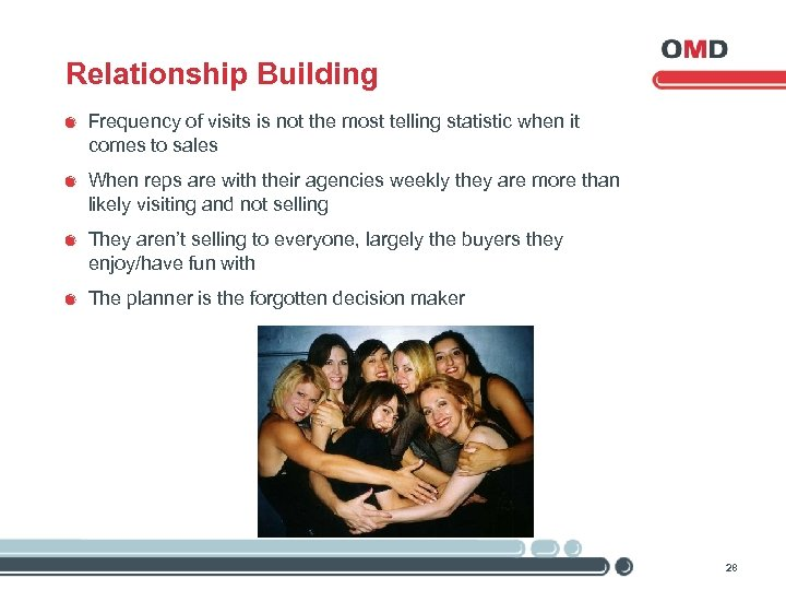 Relationship Building Frequency of visits is not the most telling statistic when it comes