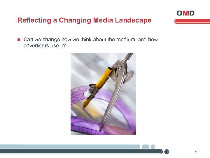 Reflecting a Changing Media Landscape Can we change how we think about the medium,