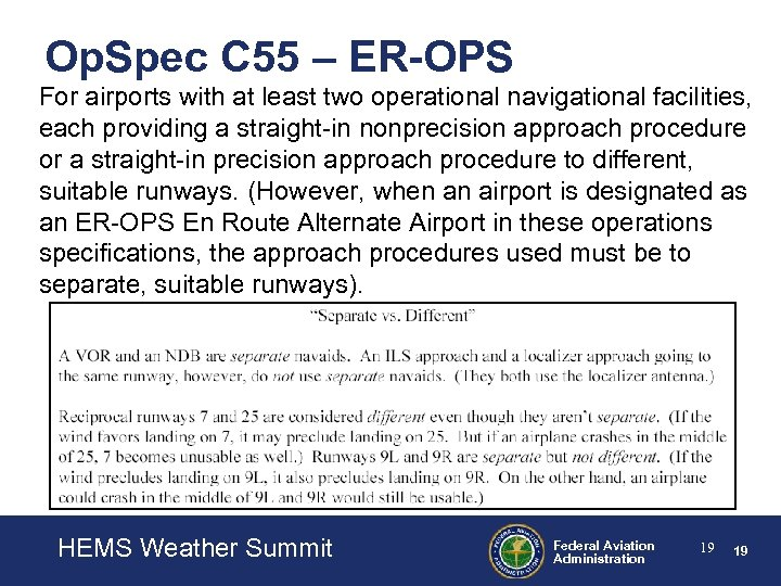 Op. Spec C 55 – ER-OPS For airports with at least two operational navigational