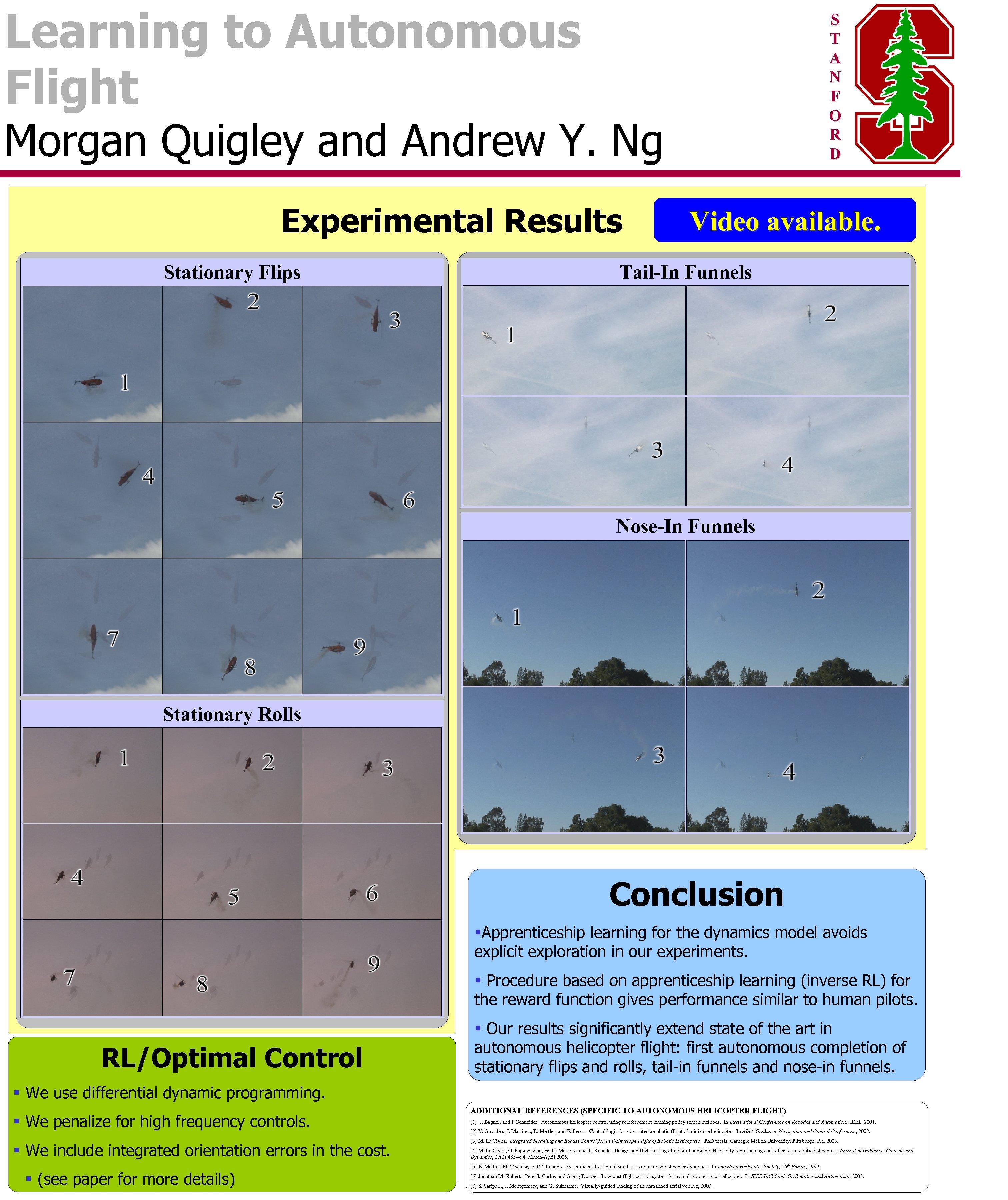 Learning to Autonomous Flight S T A N F O R D Morgan Quigley