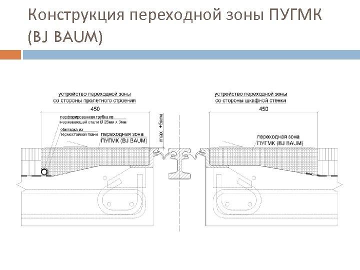 Конструкция переходной зоны ПУГМК (BJ BAUM)