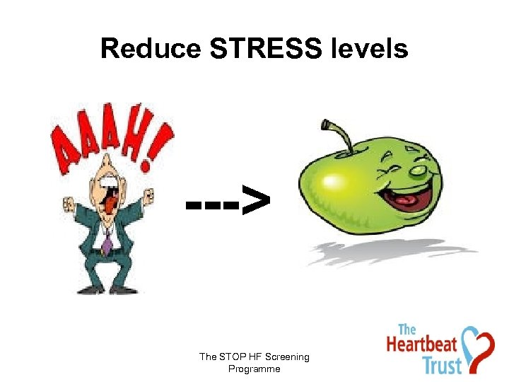 Reduce STRESS levels ---> The STOP HF Screening Programme