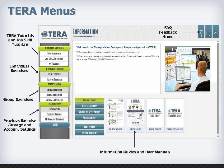 TERA Menus TERA Tutorials and Job Skill Tutorials FAQ Feedback Home Individual Exercises Group