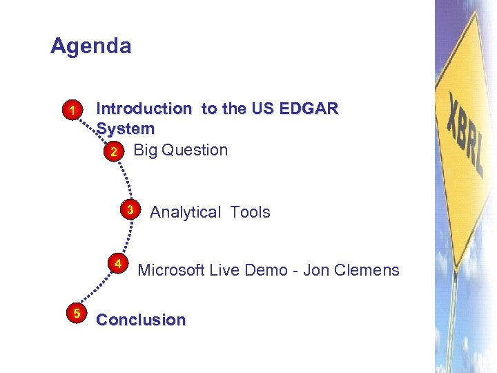 Agenda 1 Introduction to the US EDGAR System 2 Big Question 3 4 5