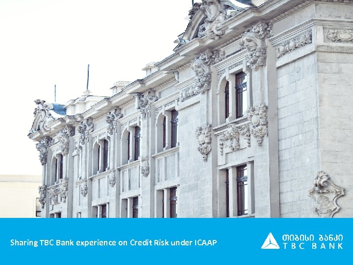 Sharing TBC Bank experience on Credit Risk under ICAAP