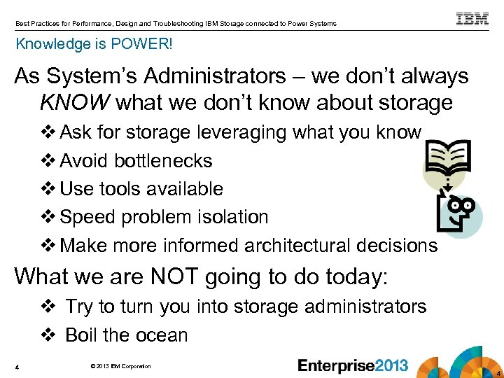 Best Practices for Performance, Design and Troubleshooting IBM Storage connected to Power Systems Knowledge