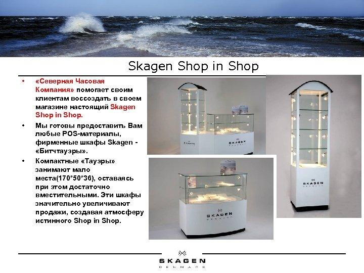 Skagen Shop in Shop • • • «Северная Часовая Компания» помогает своим клиентам воссоздать