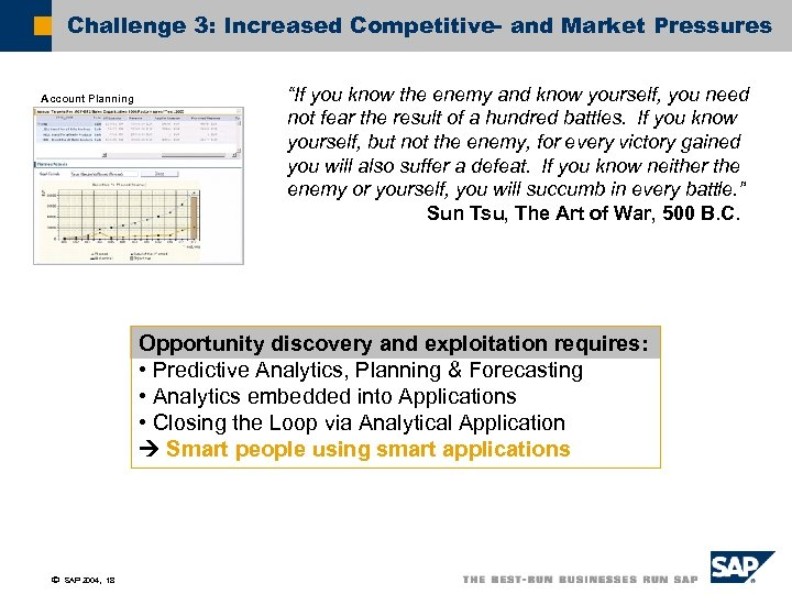 """Challenge 3: Increased Competitive- and Market Pressures Account Planning """"If you know the enemy"""