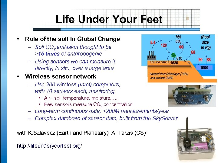 Life Under Your Feet • Role of the soil in Global Change – Soil