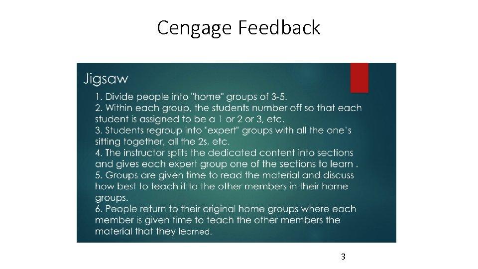 Cengage Feedback 3