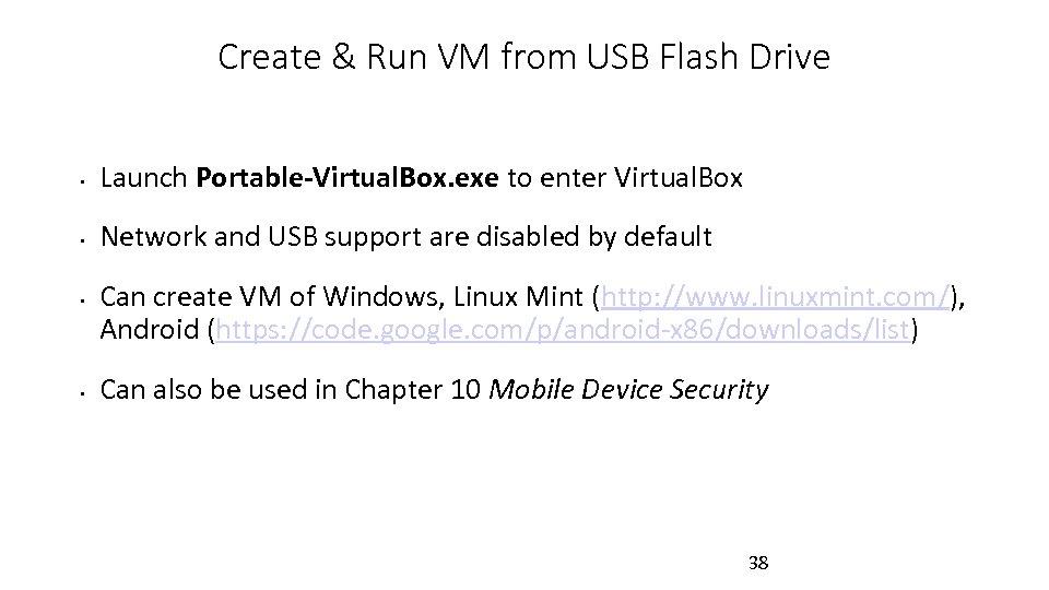 Create & Run VM from USB Flash Drive • Launch Portable-Virtual. Box. exe to