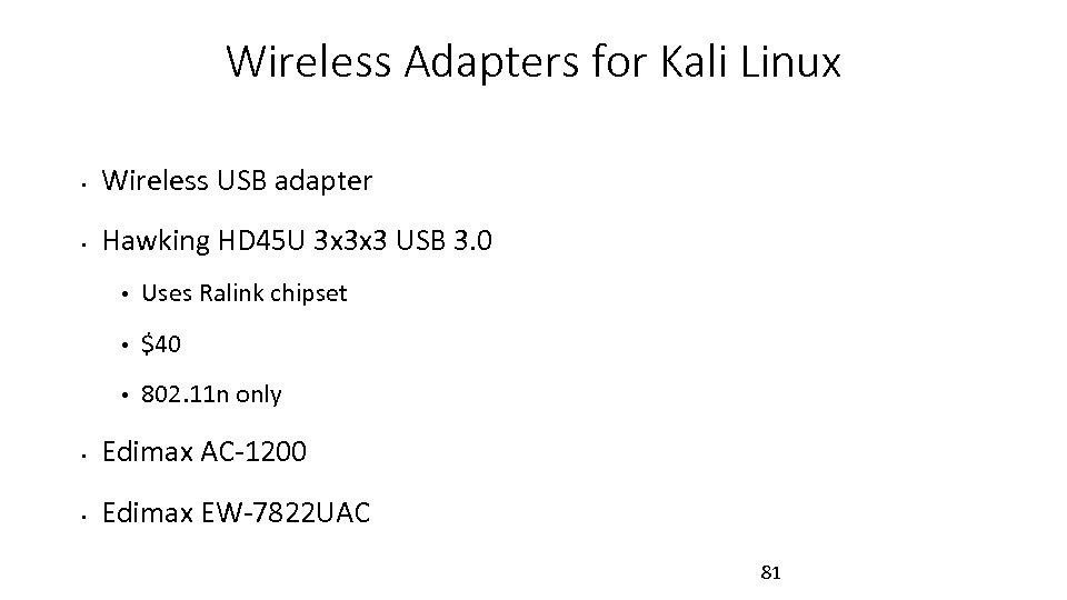 Wireless Adapters for Kali Linux • Wireless USB adapter • Hawking HD 45 U