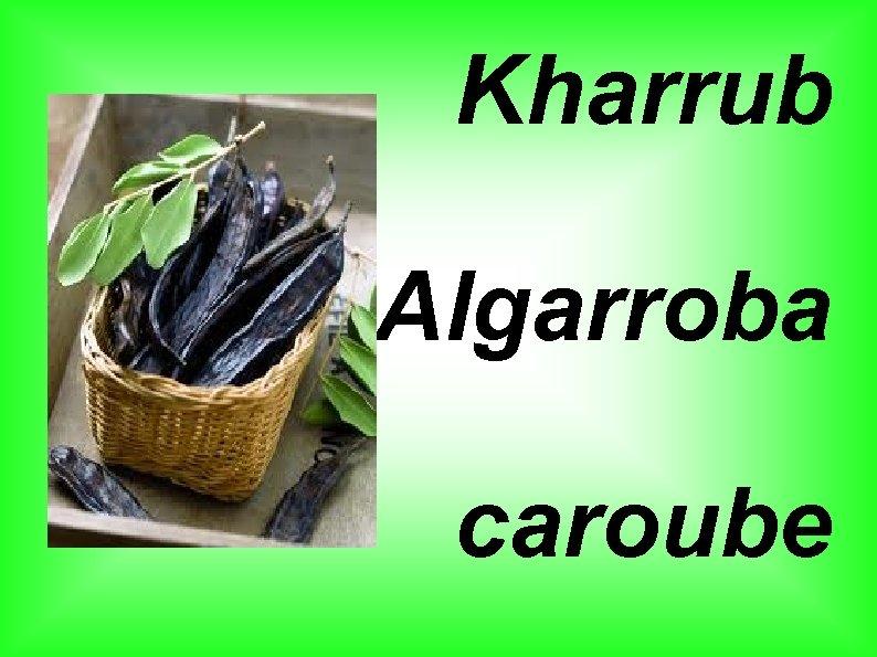 Kharrub Algarroba caroube