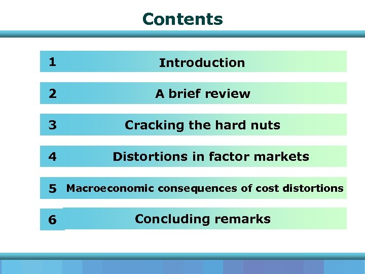 Contents 1 Introduction 2 A brief review 3 Cracking the hard nuts 4 Distortions