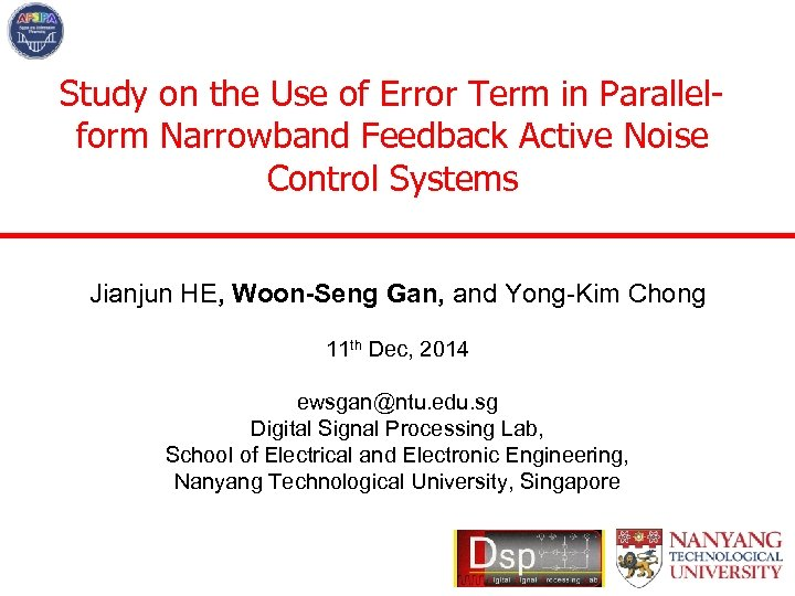 Study on the Use of Error Term in Parallelform Narrowband Feedback Active Noise Control