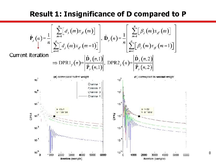 Result 1: Insignificance of D compared to P Current iteration 8