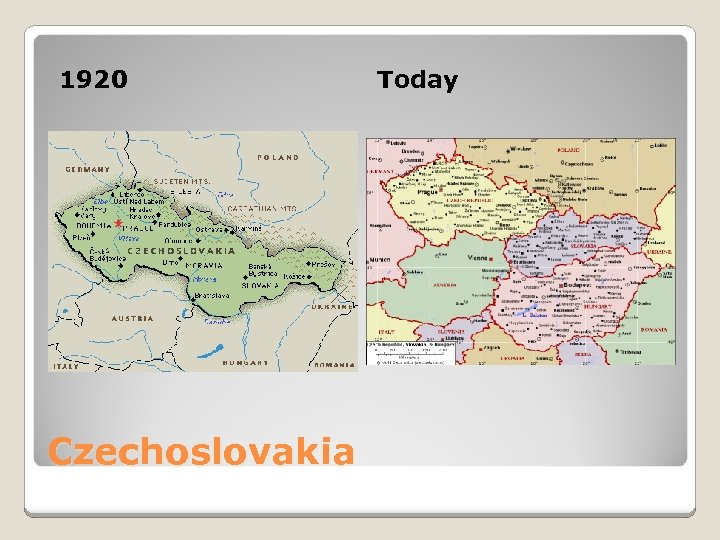 1920 Czechoslovakia Today