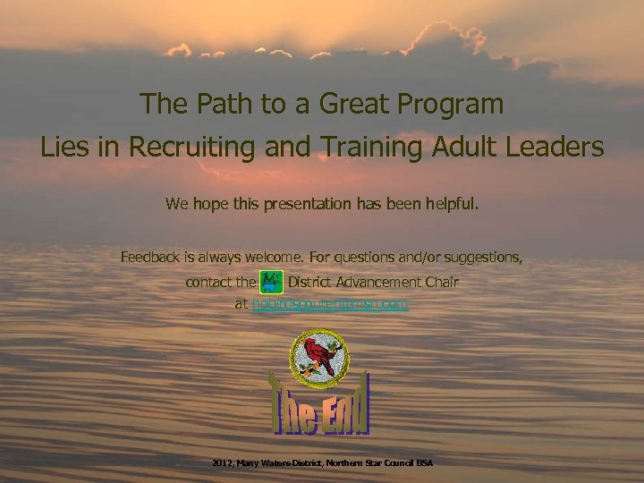 The Path to a Great Program Lies in Recruiting and Training Adult Leaders We