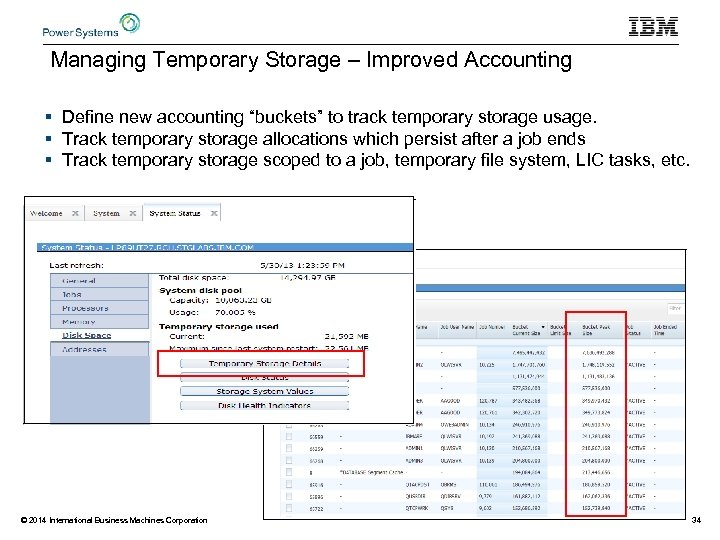 """Managing Temporary Storage – Improved Accounting § Define new accounting """"buckets"""" to track temporary"""