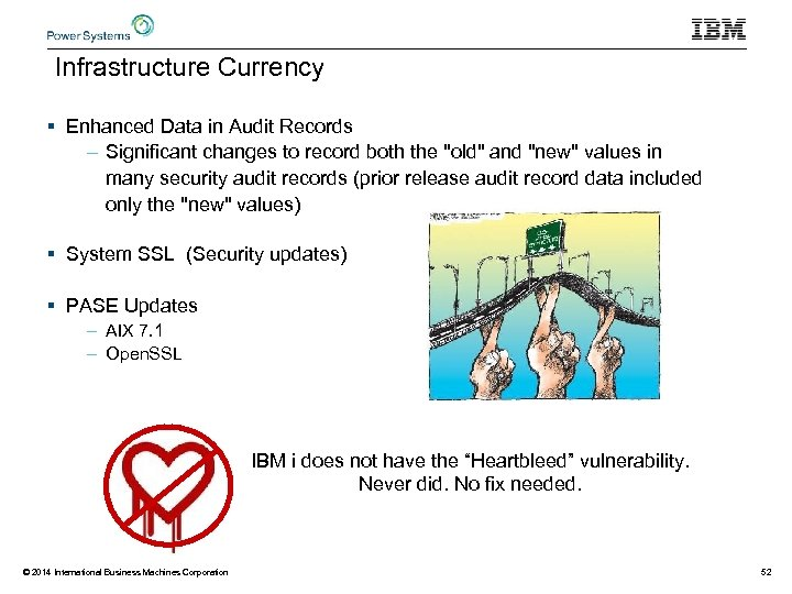 Infrastructure Currency § Enhanced Data in Audit Records – Significant changes to record both