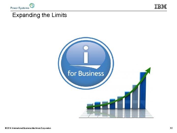 Expanding the Limits © 2014 International Business Machines Corporation 53