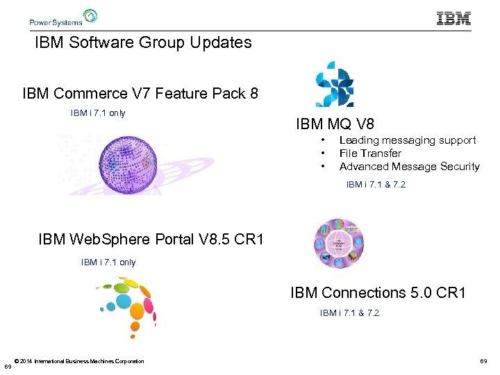 IBM Software Group Updates IBM Commerce V 7 Feature Pack 8 IBM i 7.
