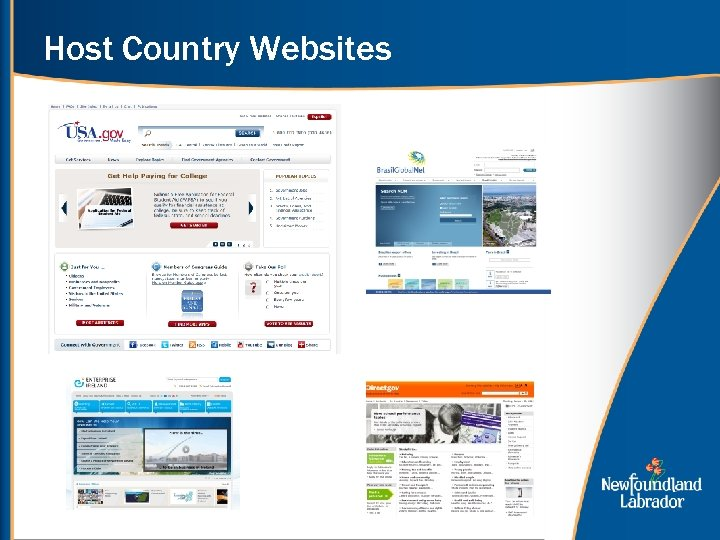 Host Country Websites