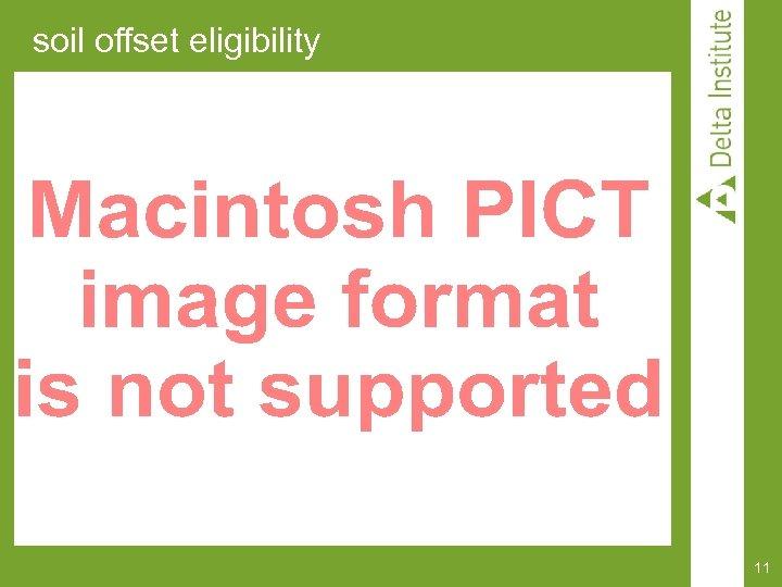 soil offset eligibility 11