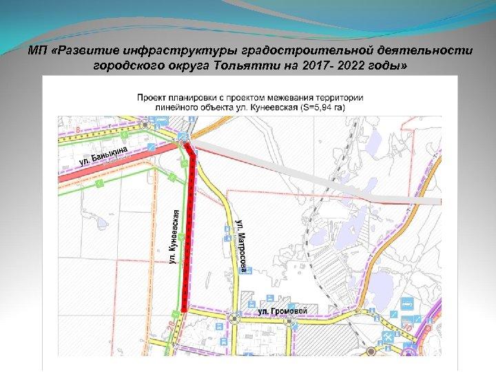 МП «Развитие инфраструктуры градостроительной деятельности городского округа Тольятти на 2017 - 2022 годы»