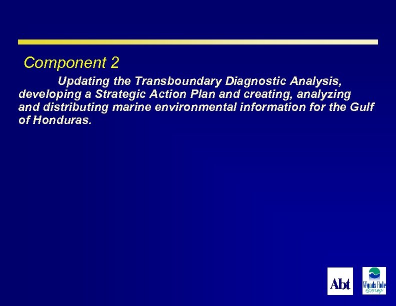 Component 2 Updating the Transboundary Diagnostic Analysis, developing a Strategic Action Plan and creating,