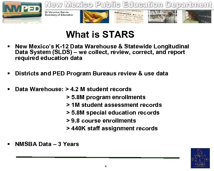 What is STARS § New Mexico's K-12 Data Warehouse & Statewide Longitudinal Data