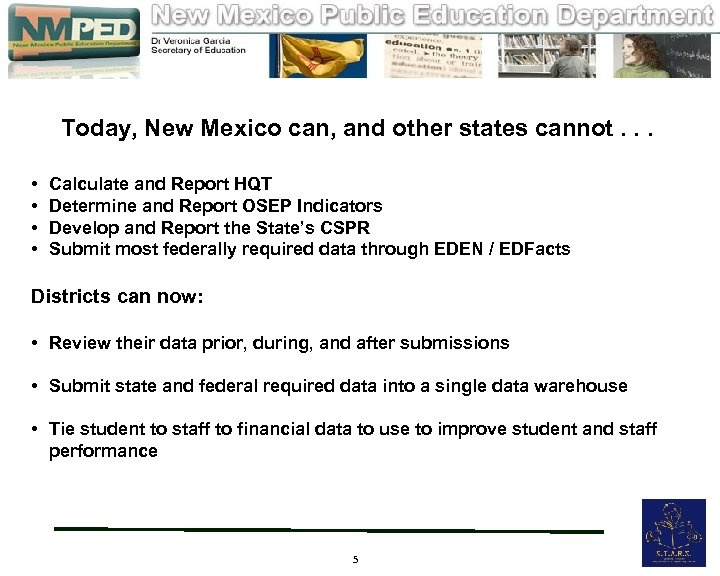 Today, New Mexico can, and other states cannot. . . • • Calculate and