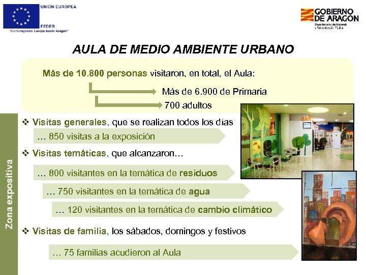 AULA DE MEDIO AMBIENTE URBANO Más de 10. 800 personas visitaron, en total, el