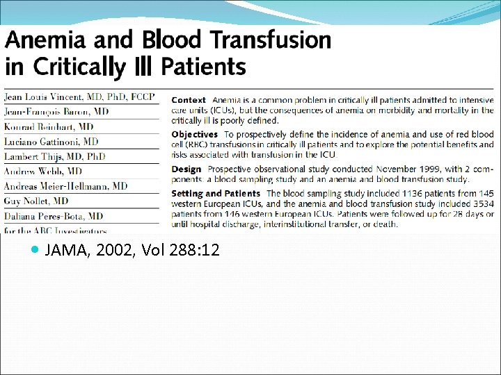 JAMA, 2002, Vol 288: 12