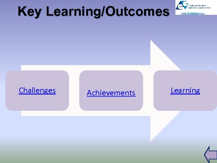 Key Learning/Outcomes Challenges Achievements Learning