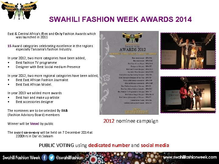 SWAHILI FASHION WEEK AWARDS 2014 East & Central Africa's First and Only Fashion Awards