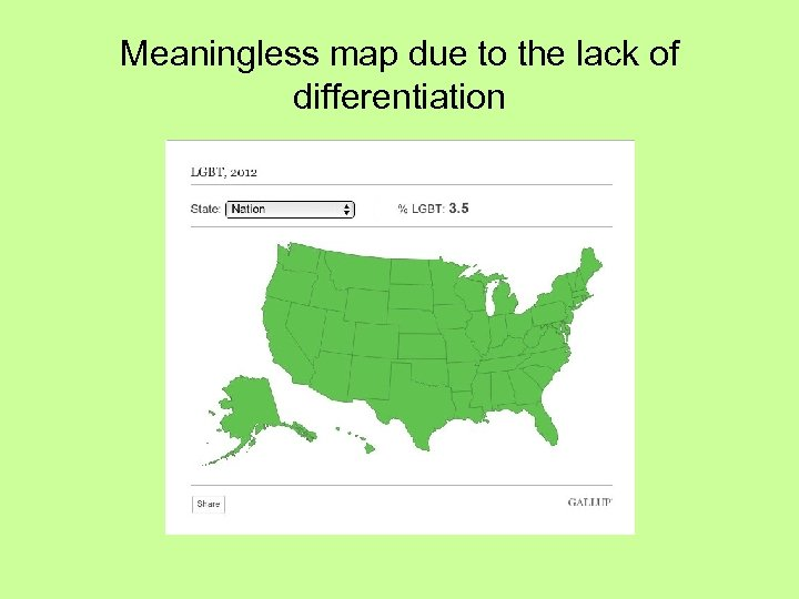 Meaningless map due to the lack of differentiation
