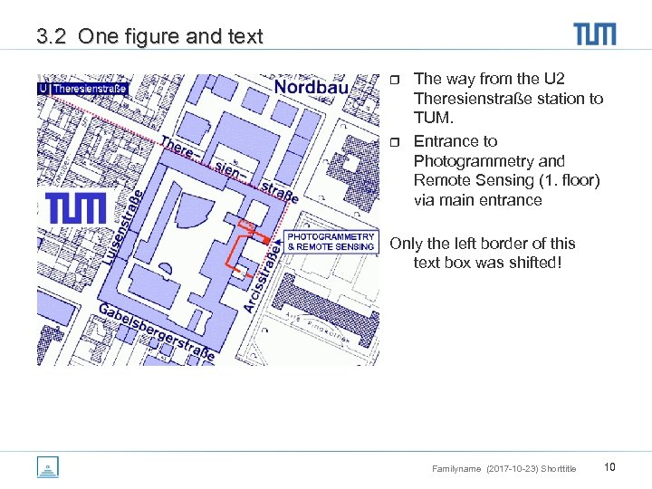 3. 2 One figure and text r r The way from the U 2