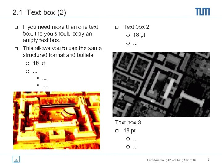 2. 1 Text box (2) r r If you need more than one text