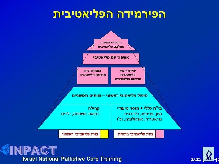 הפירמידה הפליאטיבית Israel National Palliative Care Training בן גוריון בנגב
