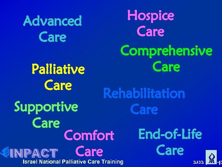 Hospice Care Comprehensive Care Advanced Care Palliative Care Rehabilitation Care Supportive Care Comfort Care