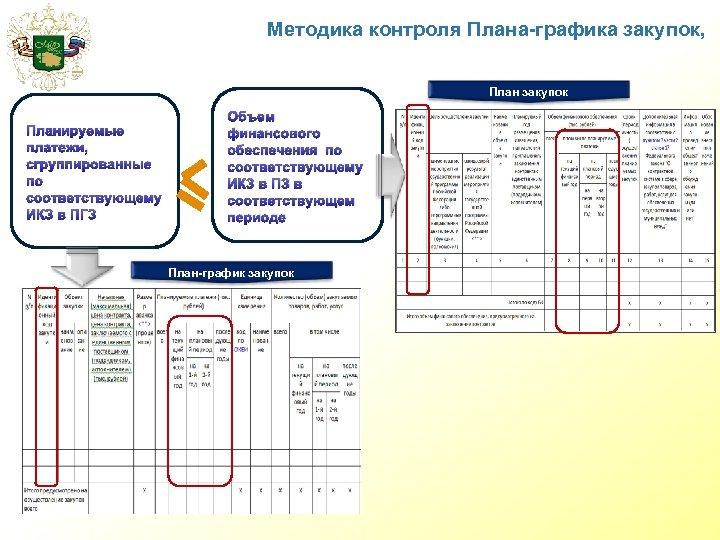 Методика контроля Плана-графика закупок, План закупок Планируемые платежи, сгруппированные по соответствующему ИКЗ в ПГЗ
